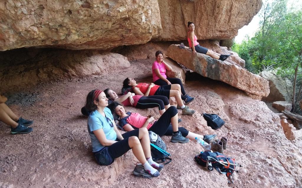Despues de mas de la mitad de la excursión por Montserrat...